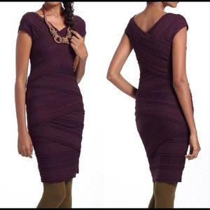 Bailey 44 Dresses - BAILEY 44 PLUM LACE COLUMN SHEATH DRESS SZ L